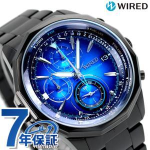 セイコー ワイアード SEIKO WIRED クロノグラフ メンズ 腕時計 AGAW421 ザ・ブルー 腕時計のななぷれ