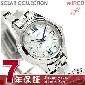 セイコー ワイアード エフ ソーラー レディース 腕時計 AGED078 SEIKO|nanaple