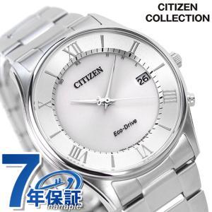 シチズン 薄型 電波ソーラー メンズ 腕時計 AS1060-...