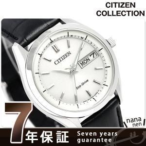 シチズン エコドライブ 電波 メンズ 腕時計 AT6060-...