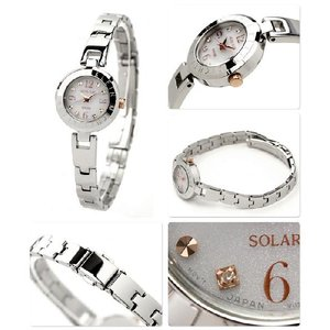 MK ミッシェル クラン ソーラー レディース 腕時計 ホワイト AVCD015 MICHEL KLEIN|nanaple|02