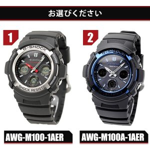 G-SHOCK Gショック 電波ソーラー AWG-M100 電波 ソーラー アナデジ 腕時計 ブラック|nanaple|02