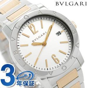 best service 24310 fe561 今ならポイント最大21倍! ブルガリ BVLGARI 時計 ブルガリブルガリ 自動巻き メンズ 腕時計 BB39WSPGD シルバー×ピンクゴールド