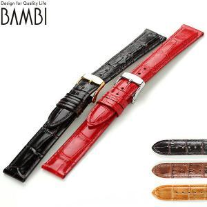 交換用ベルト 腕時計 カーフレザー バンビ 選べるモデル B...
