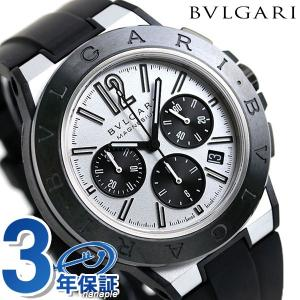 ブルガリ 時計 ディアゴノ マグネシウム 45mm クロノグラフ 自動巻き メンズ 腕時計 DG42...