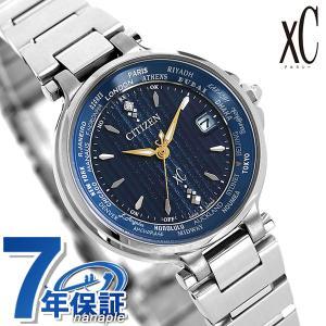 シチズン クロスシー エコドライブ電波時計 限定モデル ダイヤモンド レディース 腕時計 EC1010-57L CITIZEN xC ダークブルー|nanaple