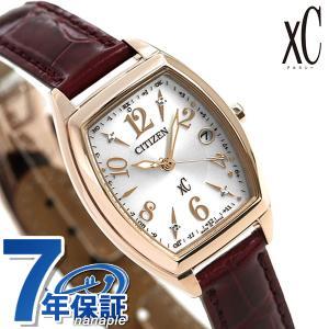 シチズン クロスシー CITIZEN xC エコドライブ 電波時計 サクラピンク(R) トノー レディース 腕時計 ES9394-56A 電波ソーラー 赤 革ベルト|nanaple
