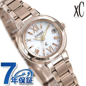 シチズン クロスシー CITIZEN xC エコドライブ 電波時計 サクラピンク(R) レディース 腕時計 ES9435-51A 電波ソーラー シルバー|nanaple