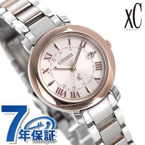 シチズン クロスシー エコドライブ電波時計 チタン レディース 腕時計 ES9445-57W CITIZEN xC ヒカリコレクション ペールピンク|nanaple