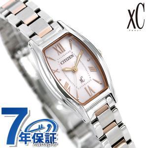 シチズン クロスシー CITIZEN xC エコドライブ 時計 トノー レディース 腕時計 EW5544-51W ソーラー ピンク|nanaple