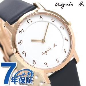 c65acd795e アニエスベー 時計 メンズ マルチェロ FCRK988 agnes b. ホワイト×ネイビー 腕時計 革ベルト