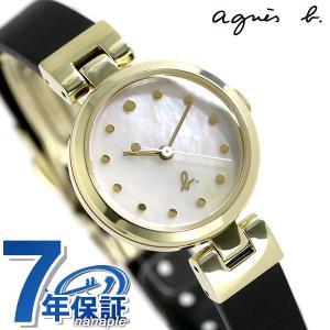 アニエスベー レディース 腕時計 シンプル 3針 FCSK924 agnes b. ホワイトシェル×...