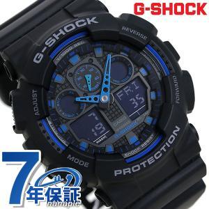 G-SHOCK Gショック ジーショック g-shock gショック STANDARD ブラック×ブルー GA-100-1A2DR