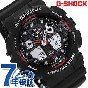 G-SHOCK Gショック ジーショック g-shock gショック STANDARD ブラック×レッド GA-100-1A4DR