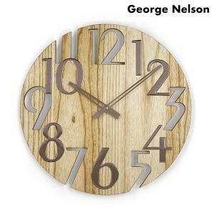 ジョージ ネルソン 掛時計 ウォール クロック プラタナス GN215NT George Nelso...