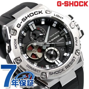 19日は全品5倍に+7倍でポイント最大19倍 G-SHOCK Gスチール クロノグラフ モバイルリンク Bluetooth GST-B100-1AER Gショック 腕時計 腕時計のななぷれ