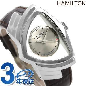 本日さらに+4倍でポイント最大21倍! ハミルトン 時計 ベンチュラ 自動巻き メンズ 腕時計 H24515581 HAMILTON シルバー×ブラウン|nanaple