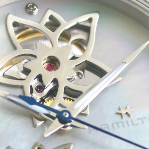 ハミルトン 時計 ジャズマスター 自動巻き 腕時計 オープンハート レディース H32115192 ホワイトシェル HAMILTON|nanaple|06