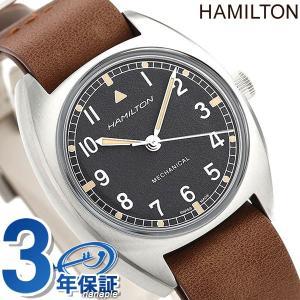 ハミルトン カーキ アビエーション パイロット パイオニア メカニカル 36mm 手巻き 腕時計 メンズ H76419531 HAMILTON ブラック×ブラウン|nanaple