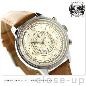 9日からエントリーで最大39倍 ゾンネ ヒストリカルコレクション クロノグラフ メンズ HI001SV 腕時計