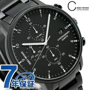 イッセイ ミヤケ Cシリーズ クロノグラフ 腕時計 NYAD008 オールブラック|nanaple