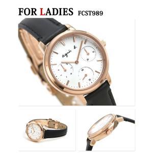 20日当店なら!最大31倍 ペアウォッチ アニエスベー サム 40mm 32mm クロノグラフ メンズ レディース 腕時計 agnes b. 革ベルト|nanaple|03