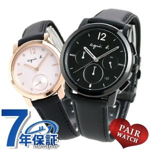 名入れ 刻印 ペアウォッチ アニエスベー 時計 クリスマス 限定モデル メンズ レディース 腕時計 agnes b. 革ベルト|nanaple