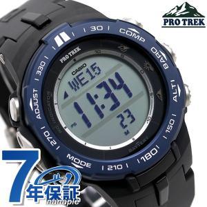 カシオ プロトレック 電波ソーラー 方位 高度 気圧 温度 メンズ 腕時計 PRW-3100YB-1...