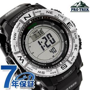 9日からエントリーで最大25倍 カシオ プロトレック 電波ソーラー 方位計 メンズ PRW-3500-1DR 腕時計
