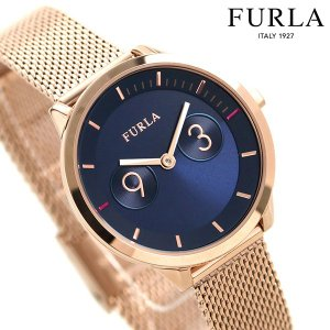9a32129223cd フルラ 時計 メトロポリス 31mm レディース 腕時計 4253102529 FURLA ネイビー×ピンクゴールド