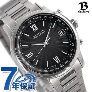 ef37698942ff71 先着!2,500円割引クーポン セイコー ブライツ クラシック ドレッシー チタン 電波ソーラー メンズ 腕時計 SAGZ097 SEIKO  BRIGHTZ ブラック