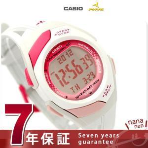 カシオ チプカシ フィズ ランニングウォッチ ピンク×グレー STR-300-7EF