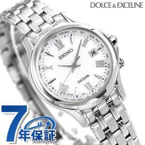 detailed look 257e1 fc8b4 今ならポイント最大30倍! セイコー エクセリーヌ レディース 腕時計 チタン 日本製 電波ソーラー SWCW161 SEIKO  DOLCE&EXCELINE