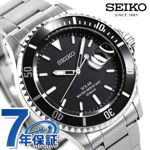 9日は全品5倍に+10倍でポイント最大22倍 セイコー 流通限定モデル 日本製 ソーラー メンズ 腕時計 SZEV011 SEIKO ブラック|腕時計のななぷれ
