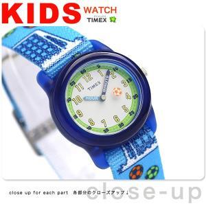 タイメックス キッズ サッカーボール ブルー TW7C16500 子供用 腕時計|nanaple