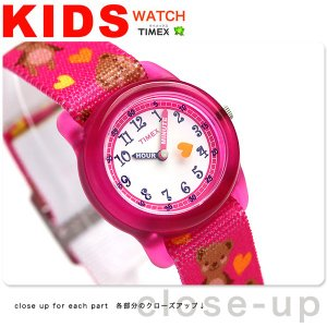 タイメックス キッズ テディベア ピンク TW7C16600 子供用 腕時計|nanaple