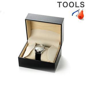 腕時計ケース 1本収納 ブラッククロコ模様 26A-1...