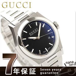 7年保証キャンペーン グッチ GUCCI パンテオン 時計 メンズ ブラック YA115423 19...