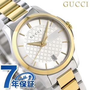 グッチ 時計 レディース GUCCI 腕時計 Gタイムレス 28mm シルバー×ゴールド YA126...