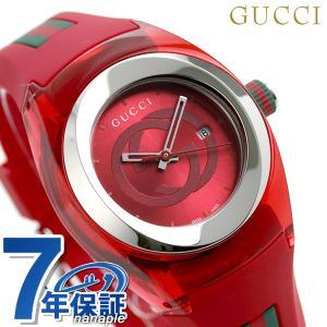 グッチ シンク 36mm レディース 腕時計 YA137303 GUCCI レッド