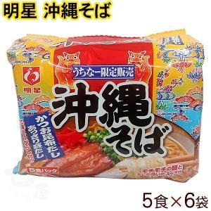 明星 沖縄そばかつお昆布だし1ケース30食(5食入り×6袋)  沖縄土産 インスタントラーメン