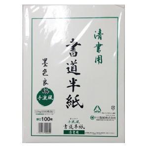 【十川製紙】半紙 清書半紙【白 100枚】|nanbahc