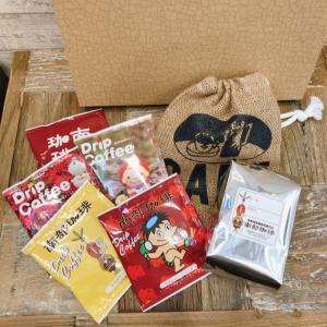 B3-5 ドリップコーヒーバッグ5個×コーヒー豆200g×オリジナルミニ麻袋ギフトセット nanbucoffee