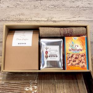 W-2 ドリップコーヒーバッグ10個×コーヒー豆200g、ミニ麻袋、お砂糖ギフトセット nanbucoffee