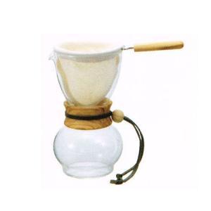 ハリオ ドリップポット・ウッドネック オリーブウッド DPW-1-OV|nanbucoffee