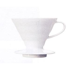 ハリオ V60透過ドリッパー02 セラミックW VDC-02W|nanbucoffee