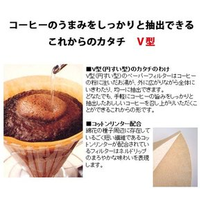 ボンマック コットンリンター配合V型ペーパーフィルター CF-2CO|nanbucoffee|04