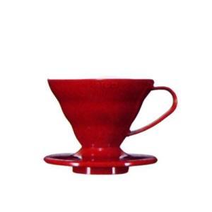ハリオ V60透過ドリッパー01 レッド(PP製) VD-01R|nanbucoffee