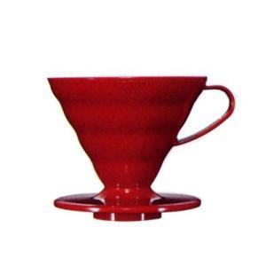 ハリオ V60透過ドリッパー02 レッド(PP製) VD-02R|nanbucoffee