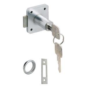 スリーナイン島野 面打シリンダーロッカー錠 取付板厚22mm 76241 10個単位|nandemo-glass-kan